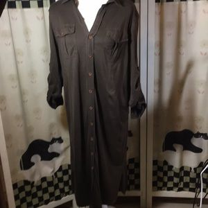 Ralph Lauren Sport Button up Brown Dress